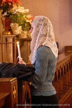 Catholic Veil, Roman Catholic, First Communion Veils, Communion Dresses, Mantilla Veil, Chapel Veil, Bride Of Christ, John The Baptist, Modest Fashion