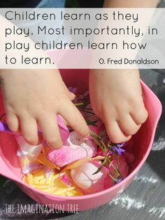 Children learn through play