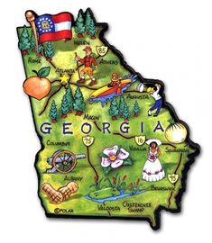 Georgia State Artwood Magnet - Classic Magnets