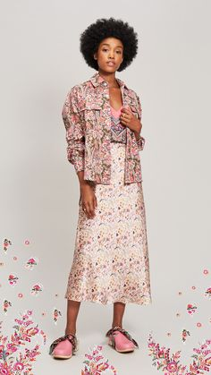 Liberty Ready to Wear Summer 2020 Cotton Shirt Dress, Satin Shirt, Smock Dress, Ruffle Dress, Button Up Skirts, Satin Midi Skirt, Liberty Of London, Mother Of Pearl Buttons, Mixing Prints