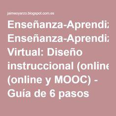 Enseñanza-Aprendizaje Virtual: Diseño instruccional (online y MOOC) - Guía de 6 pasos