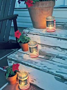 Like these a lot!   http://www.countryliving.com/_mobile/crafts/hometalk-patriotic-luminarias?src=spr_FBPAGE&spr_id=1453_84086109