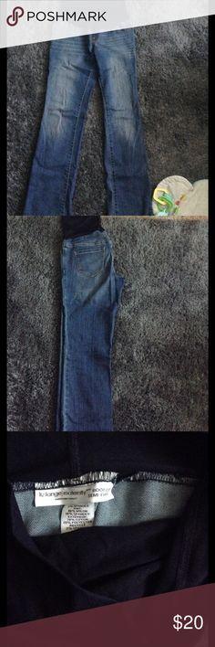 Liz Lange boot cut maternity jeans Super soft, full panel boot cut maternity jeans. Worn once! Liz Lange for Target Jeans Boot Cut