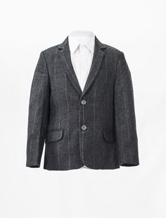 Tweed Check Grey Jacket for boys occasion wear