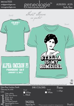 AOPi t-shirt.  Stella is my homegirl.