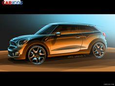 Artists impression of Mini Paceman. Car Design Sketch, Car Sketch, Design Cars, Mini Paceman, New Fiat, Flying Vehicles, Layout, Small Cars, Transportation Design