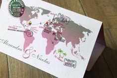 Faire part mariage carte d'embarquement http://mariageafrikasia.wix.com/afrikasia