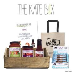 <b><big>Introducing The Kate Box!</big><br></b><br> <small>Exclusive Recipes, Select FODY Products, Free Tote Bag</small>