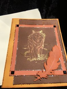 A personal favorite from my Etsy shop https://www.etsy.com/listing/399843681/card-handmade-wolf-feather-in-orange-and