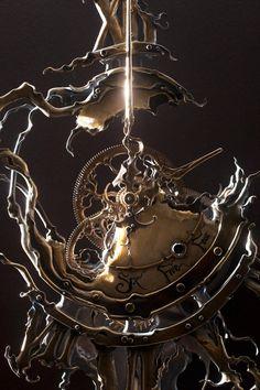 Twisted Twelve detail by ericfreitas on DeviantArt Old Clock Tattoo, Clock Tattoo Design, Clock Tattoos, Watch Tattoos, Steampunk Crafts, Steampunk Design, Old Clocks, Antique Clocks, Photomontage