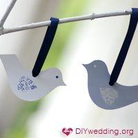 cute paper birds