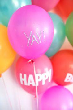 6 Ways To Write On A Balloon http://asubtlerevelry.com/6-ways-to-write-on-a-balloon