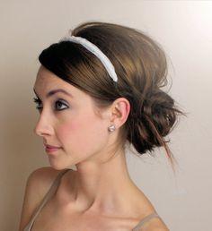 headbands with an updo, updo headbands, headband updo