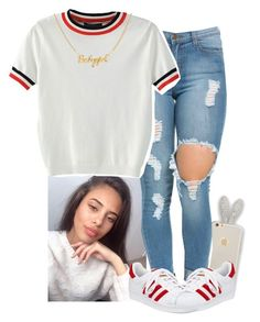 """"" by xtiairax ❤ liked on Polyvore featuring WithChic and adidas"