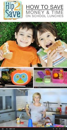 tips for healthy, low-cost school lunches {video} via Hip2Save: It's Not Your Grandma's Coupon Site!