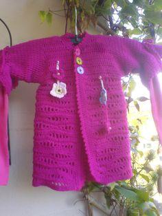 Pinke Mädchenjacke / Pinke Girlsjacket