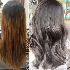 silver hair for brunettes!