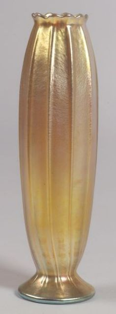 Tiffany Art Glass   Gold favrile vase   New York, early 20th century
