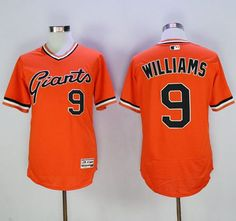 9c3b4c5bc Giants  9 Matt Williams Orange Flexbase Authentic Collection Cooperstown  Stitched MLB jerseys Soccer Jerseys
