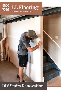 Up House, House Stairs, Home Improvement Projects, Home Projects, Staircase Remodel, Basement Makeover, Diy Home Repair, Basement Remodeling, Home Renovation