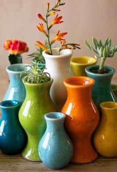 Fiesta Ceramic Bud Vases
