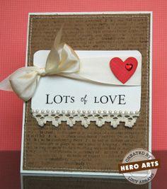 Hero Arts Cardmaking Idea: Lots of Love