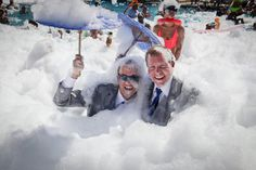 Post-wedding foam party!
