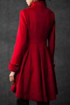 winter coats for women red cashmere jacket by YL1dress on Etsy, $159.00