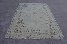 Anatolia Vintage Overdyed Rug 9x6 Feet 276x185 Cm Turkish Handwoven Carpet Rug Decorative Carpet Rug Overdyed.