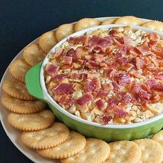 Trisha Yearwood's Charleston Cheese Dip Ive taken this to 3 parties and it is GONE in 20 minutes. Be prepared with copies of the recipe as youll get numerous requests.
