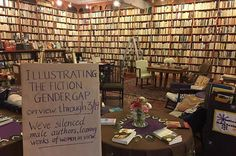 A Bookstore Is Displaying All Books By Men Backward, And It's Eye-Opening
