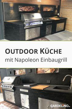 Flatscreen, Black Kitchens, Napoleon, Bbq, Backyard, Outdoor Decor, Modern, Home Decor, Houses