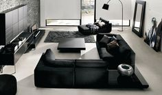 Modern Black White Living Room Decoration