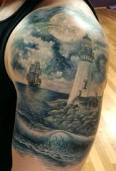 lighthouse boat tattoo - Google Search