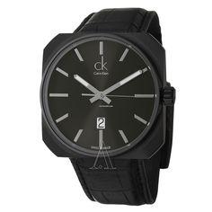 ck Calvin Klein Men's Solid Watch $189 #CalvinKlein #ck #watch #watches Black Stainless Steel