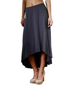 Loving this Gray Hi-Low Maxi Skirt on #zulily! #zulilyfinds