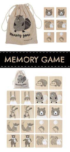 Memory Game #preschool #preschoolers #prek #toddlers #woodentoys #memorygame #match #daycare #ad