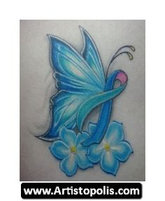 Cancer Ribbon Tattoo -- could do in pink/teal?