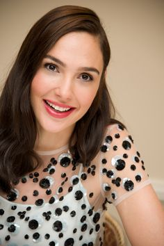 A beaming Gal Gadot in Giorgio Armani promoting her latest film  Keeping Up  with the b7106e07082