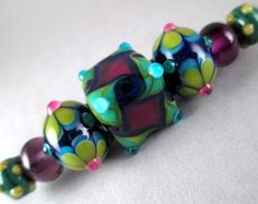 Handmade Art Glass Lampwork Bead Set of 7 by Patti by 'patticahill', on Etsy $47.00 <3<3<3