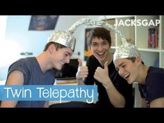 Twin Telepathy   JacksGap + Danisnotonfire - YouTube Oh my gosh rofl the tin foil hats!