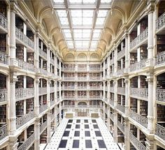 Johns Hopkins University George Peabody Library in Baltimore, United States | 16 Libraries You Have To See Before You Die