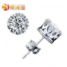 Silver s925 pure silver stud earring female stud earring male earring fashion accessories
