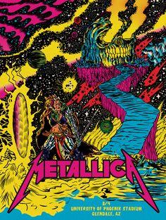 Metallica Concert Poster by Alexis Ziritt