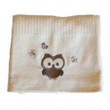 Owl Cellular Cotton Baby Blanket