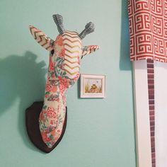 A la medida, montado en la pared relleno Taxidermia falso cabeza de jirafa (o Loch Ness Monster),