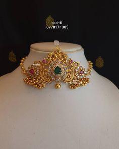 Indian Wedding Jewelry, Wedding Jewelry Sets, Indian Jewelry, Bridal Jewellery, 1 Gram Gold Jewellery, Gold Jewellery Design, Gold Jewelry, Jewelery, Antique Jewellery Designs