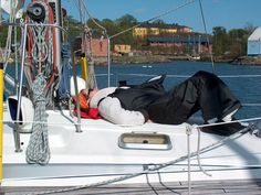 Relax on the sailing trip