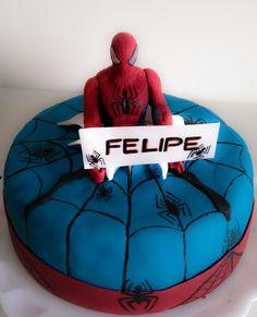 Spider man cake Bolo homem aranha