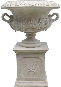 Features:  -Cast in quality designer resin.  -Suitable for home, garden or restaurant.  -Hand finished.  -Pedestal included: No.  Color: -White.  Shape: -Round.  Material Details: -Resin. Dimensions: